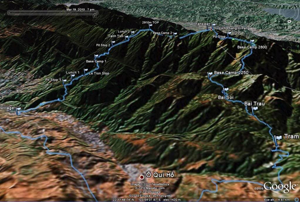 Fansipan mountain maps