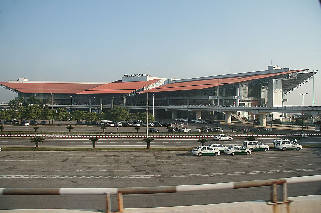 Noi Bai international airport expanded T1 passenger terminal opens.